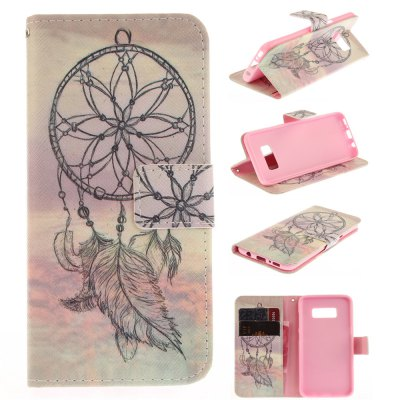Dreamcatcher PU+TPU Leather Wallet Design with Stand and Card Slots Magnetic Closure Case for Samsung Galaxy S8