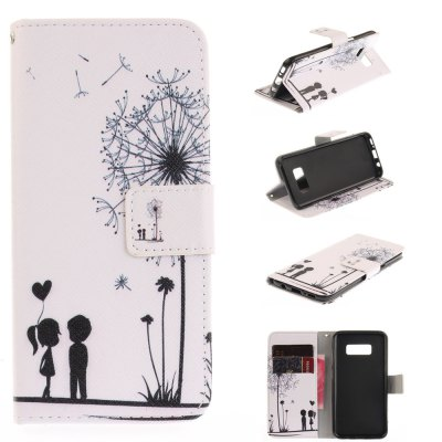 Dandelion Lovers PU+TPU Leather Wallet Design with Stand and Card Slots Magnetic Closure Case for Samsung Galaxy S8 Plus