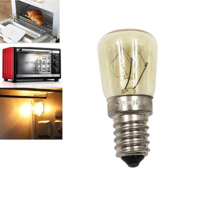 Oven Light Bulb E14 25W High Temperature 300 Degree Yellow Toaster Tungsten Filament Bulb