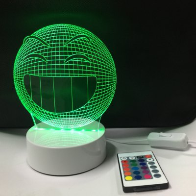 DSU Smiling Face Light Optical Illusion Color Change 3D Visual LED Light