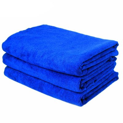 160x60cm Soft Blue Microfiber Cleaning Towel Car Auto Wash Dry Clean Cloth