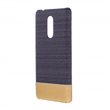 Wkae Jeans Canvas Leather Back Case Cover for Lenovo K6 Note
