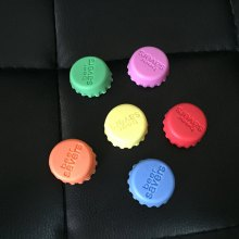 WS 3cm Colorful Silicone Beer Bottle Cap 6PCS / Set