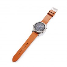 22MM Genuine Leather Metal Buckle Replacement Strap Watch Band for Samsung Gear S3