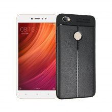 Smooth Litchi Pattern PU Leather Soft Back Case for Xiaomi Redmi Note 5A (High Edition)
