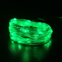 String Lights for Patio Micro 50 Green LEDs 5M