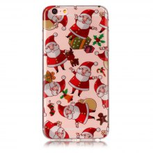 Christmas Santa Claus Pattern TPU Soft Case for iPhone 6 / 6s
