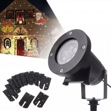 YouOKLight 6W 12 Types Multi-color Christmas Laser Snowflake LED Projector 100 - 240V 1PC