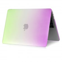 Colorful Rainbow Design Hard Shell Rubber Coated Plastic Cover Case For MacBook Air 13