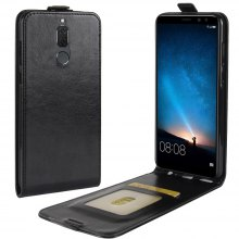 Durable Crazy Horse Pattern Up and Down Style Flip Buckle PU Leather Case for Huawei Mate 10 Lite