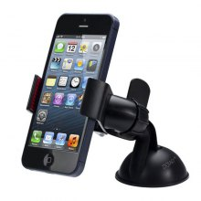 ZIQIAO 360 Degrees Rotation Universal Car Suction Mount Cell Phone / GPS Holder - BLACK