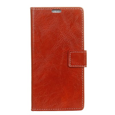 Genuine Quality Retro Style Crazy Horse Pattern Flip PU Leather Wallet Case for Samsung A8+ 2018