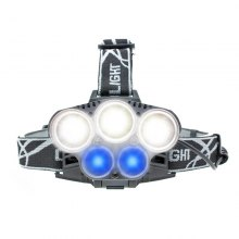 BRELONG LED Headlamp 5LEDs 18650 Battery USB