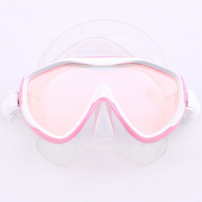 MM100 Whale Professional Anti-fog Color Mirror Silicone Snorkeling Diving Mask