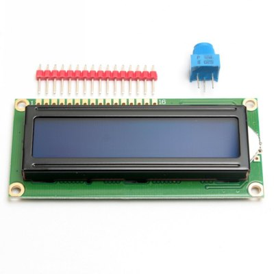 Standard 16 x 2 Character LCD Display Module + Extras for Arduino