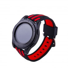 Stripes Watch Band for Samsung Gear S3 Frontier Sport Silicone Rubber WatchStrap