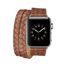 Genuine Leather Double Tour Wraps Band for Apple Watch Series 3 / 2 / 1 38MM