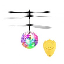 LED Light Crystal Ball Induction Flying RC Helicopter
