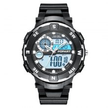POPART POP831AD Trendy Sports Rubber Band Men Quartz Watch