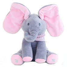 Elephant Style Animated Flappy Plush Toy for Peek-a-boo Game