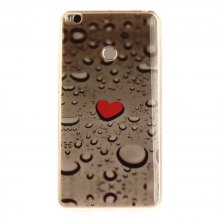 Heart Drop Soft Clear IMD TPU Phone Casing Mobile Smartphone Cover Shell Case for Xiaomi Mi Max 2