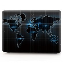 Computer Shell Laptop Case Keyboard Film for MacBook Air 11.6 inch 3D Technology World Map