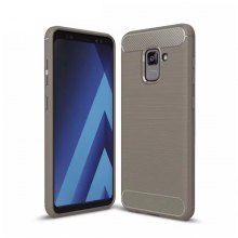 Carbon Fiber Drawing Mobile Phone Protection Case for Samsung Galaxy A7 2018
