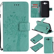 Double Embossed Sun Flower PU TPU Phone Case for HUAWEI Y3 2017