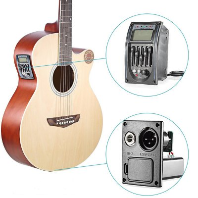 Guitar Driver LC-5 5 Bands Acoustic Guitar Preamp Pickup EQ Preamp LCD Tuner Piezo Pickup