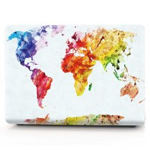 Computer Shell Laptop Case Keyboard Film for MacBook Pro 13.3 inch Touch 2016 3D Watercolor World Map