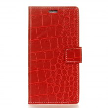 Vintage Crocodile Pattern PU Leather Wallet Case for Doogee Shoot 2