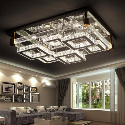 LED Ceiling Lamp Stepless Adjusting Cutting Technology Hollowing Integrated Light Source 240W