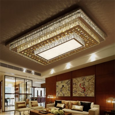 LED Ceiling Lamp Stepless Adjustable Light Cutting Process 192W