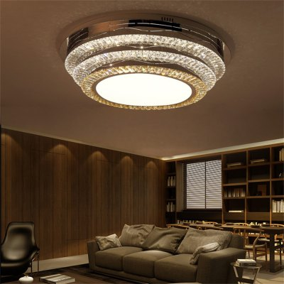 LED Ceiling Lamp Stepless Adjustable Light Cutting Process Round 152W