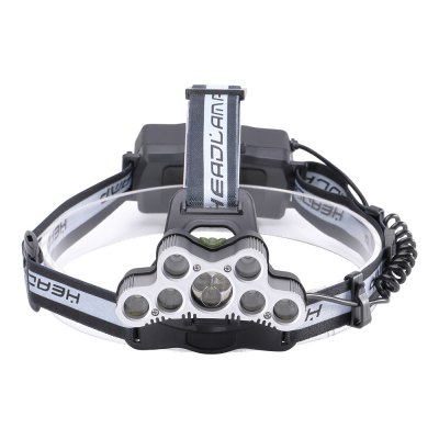 U`King ZQ - X866 8000LM 6 Modes Rechargeable 9LEDs Portable Multifunction Headlamp