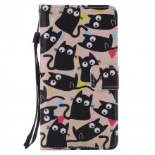 Kitten Painted PU Phone Case for HUAWEI P9 Lite