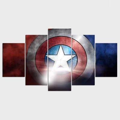 Canvas Art Modern Wall Captain America Shield Movie Poster Print Descorative Pictures Painting For Livingroom