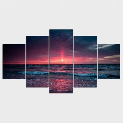 New 5 Piece Canvas Art HD Beach Sea Group Decoration for Home Print Picture Wall Art Sets Free Shipping