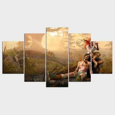 The Witcher 3 Wild Hunt The Succubus Home Decoration Canvas Poster 5 Pieces