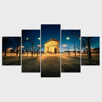 Oil Painting Night View Canvas Painting Building Picture Home Decor Wall Art Canvas Prints Wall Sticker Art Work