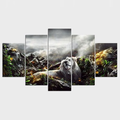 5 Pcs Set Modern Lion Animal Cuadros Decoracion Painting By Numbers Print on Canvas Wall Picture For Living Room Drop Shipping