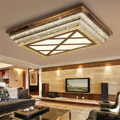 Hollow Stepless Adjustment LED Ceiling Lamp with Grid in Center 220V