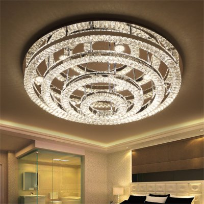 Stepless Adjustment LED Ceiling Lamp Hollow Four-layer Round Light 220V