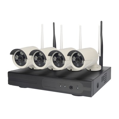 4Pcs HD 960P Outdoor P2P WIFI 4CH NVR CCTV Security Wireless IP Camera System