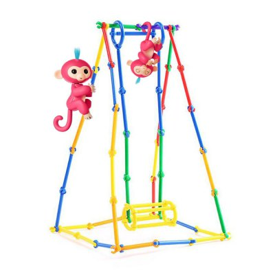 Monkey Support Style Parent-child Family DIY Craft Assembled Model Toys
