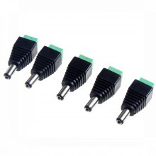 5 pcs DC Barrel Jack Adapter Male 5.5x2.1mm