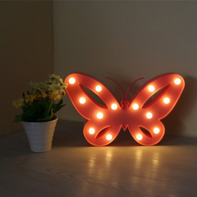 3W Pink Butterfly LED Night Light Cute Gift for Girls