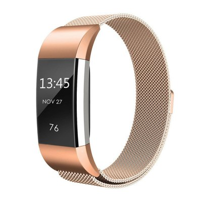 For Fitbit Charge 2 Heart Rate and Activity stater Stainless Steel Mesh Milanese Magnetic Loop Wrist Bands Bracelet Strap