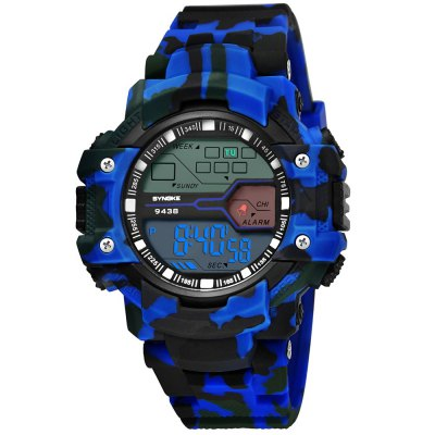 SYNOKE 9438 Trendy Sports Plastic Band Men Watch