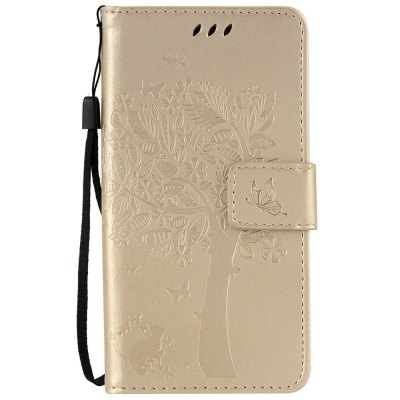 Double Embossed Sun Flower PU TPU Phone Case for ASUS ZenFone ZD552KL